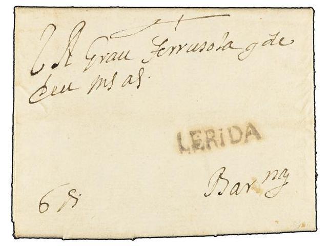 Lot 4 - SPAIN: PREPHILATELIC MARKS  DP05 CATALUÑA  -  Filatelia Llach s.l. Mail Auction #156