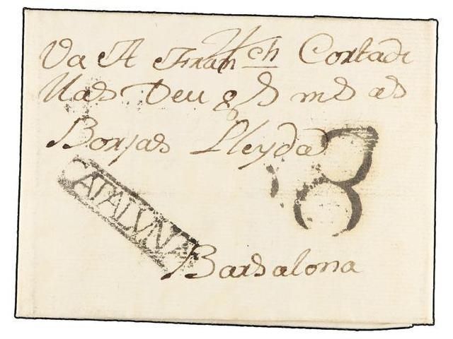 Lot 5 - SPAIN: PREPHILATELIC MARKS  DP05 CATALUÑA  -  Filatelia Llach s.l. Mail Auction #156