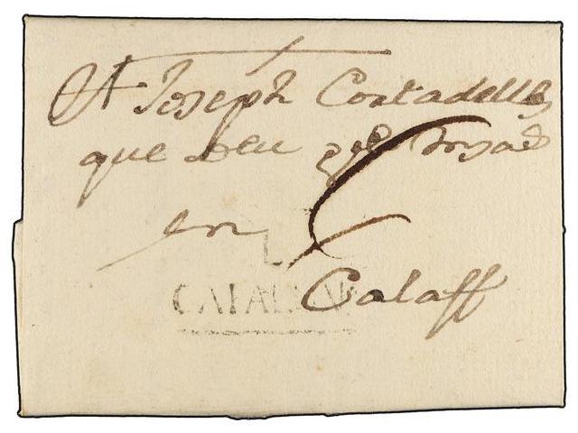 Lot 6 - SPAIN: PREPHILATELIC MARKS  DP05 CATALUÑA  -  Filatelia Llach s.l. Mail Auction #156