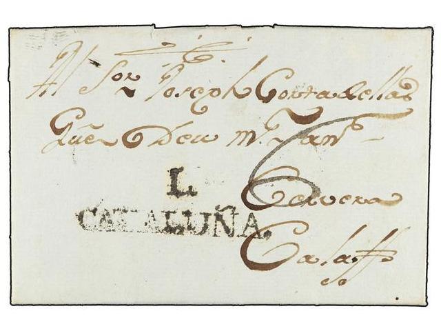 Lot 7 - SPAIN: PREPHILATELIC MARKS  DP05 CATALUÑA  -  Filatelia Llach s.l. Mail Auction #156