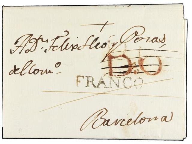 Lot 9 - SPAIN: PREPHILATELIC MARKS  DP05 CATALUÑA  -  Filatelia Llach s.l. Mail Auction #156