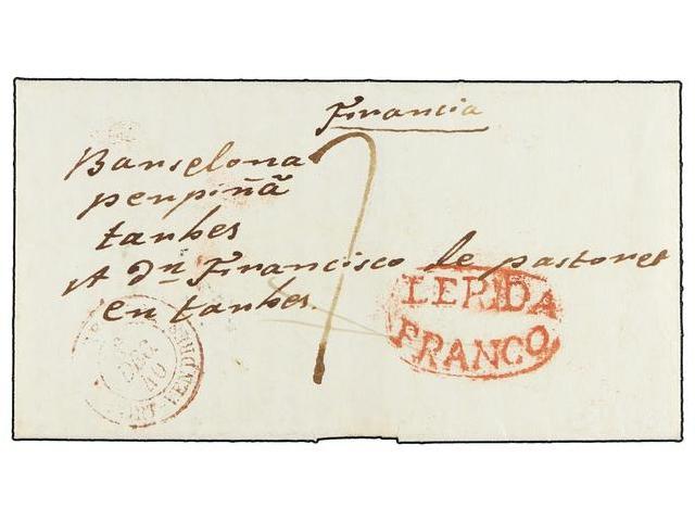 Lot 10 - SPAIN: PREPHILATELIC MARKS  DP05 CATALUÑA  -  Filatelia Llach s.l. Mail Auction #156