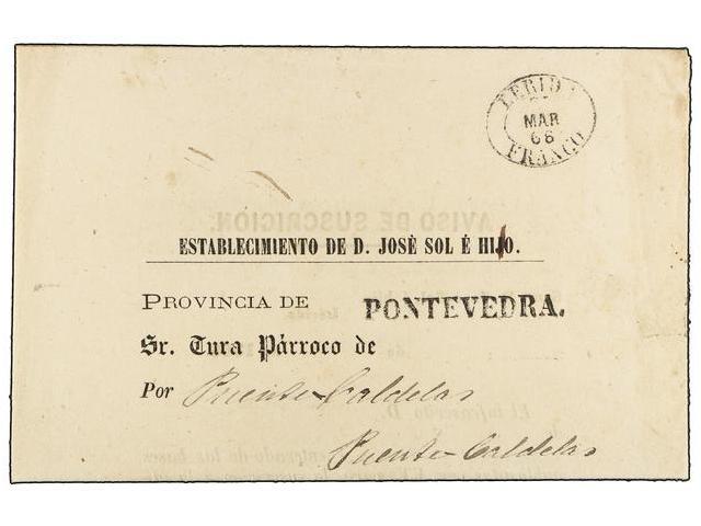 Lot 11 - SPAIN: PREPHILATELIC MARKS  DP05 CATALUÑA  -  Filatelia Llach s.l. Mail Auction #156