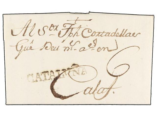 Lot 14 - SPAIN: PREPHILATELIC MARKS  DP05 CATALUÑA  -  Filatelia Llach s.l. Mail Auction #156