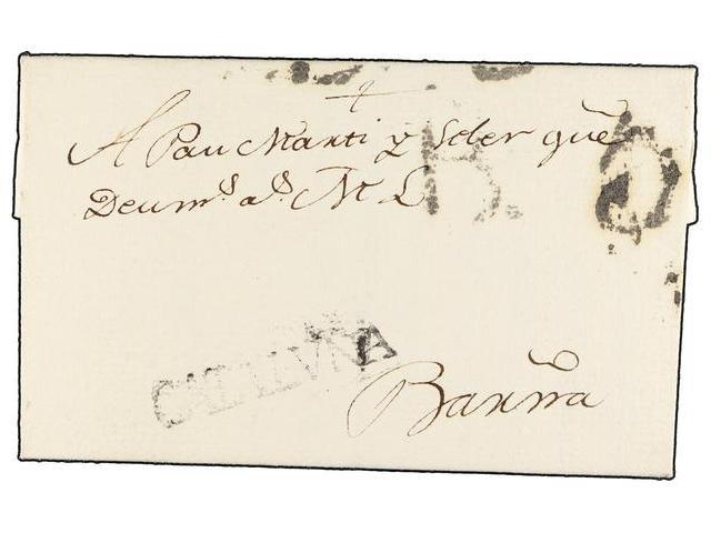 Lot 15 - SPAIN: PREPHILATELIC MARKS  DP05 CATALUÑA  -  Filatelia Llach s.l. Mail Auction #156