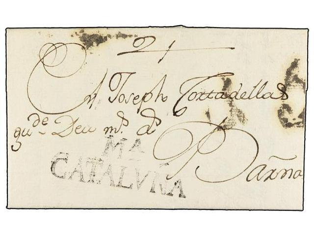 Lot 16 - SPAIN: PREPHILATELIC MARKS  DP05 CATALUÑA  -  Filatelia Llach s.l. Mail Auction #156