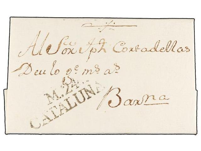 Lot 17 - SPAIN: PREPHILATELIC MARKS  DP05 CATALUÑA  -  Filatelia Llach s.l. Mail Auction #156
