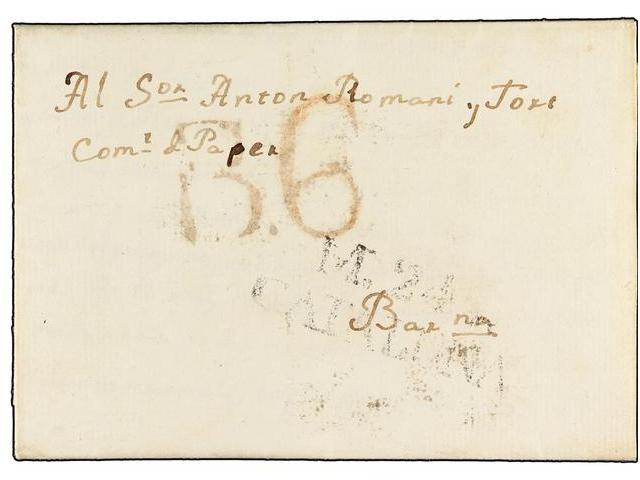 Lot 18 - SPAIN: PREPHILATELIC MARKS  DP05 CATALUÑA  -  Filatelia Llach s.l. Mail Auction #156