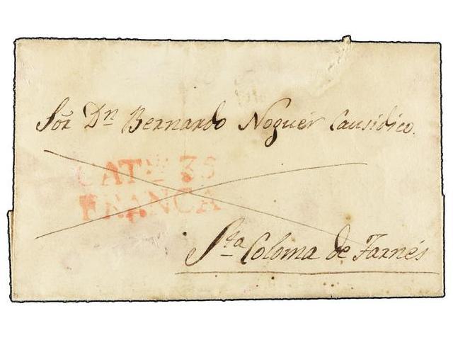 Lot 49 - SPAIN: PREPHILATELIC MARKS  DP05 CATALUÑA  -  Filatelia Llach s.l. Mail Auction #156