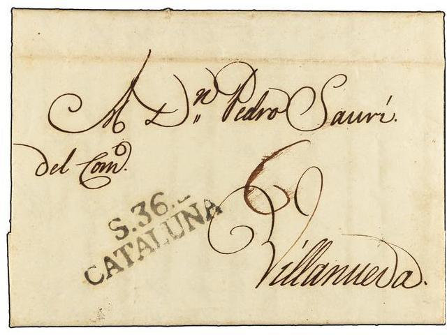 Lot 52 - SPAIN: PREPHILATELIC MARKS  DP05 CATALUÑA  -  Filatelia Llach s.l. Mail Auction #156