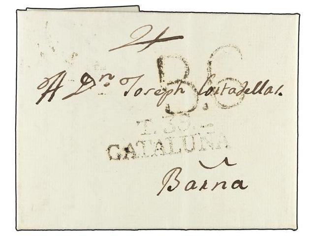 Lot 61 - SPAIN: PREPHILATELIC MARKS  DP05 CATALUÑA  -  Filatelia Llach s.l. Mail Auction #156