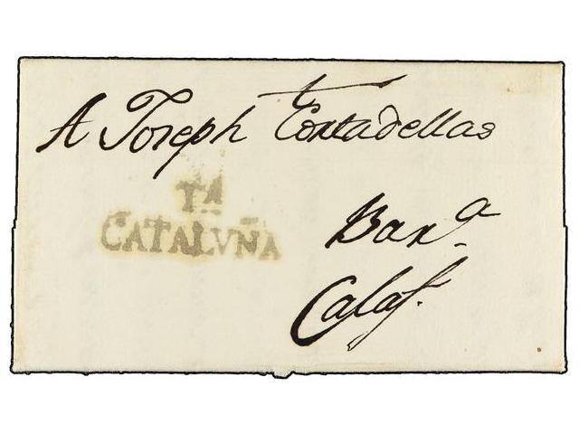 Lot 80 - SPAIN: PREPHILATELIC MARKS  DP05 CATALUÑA  -  Filatelia Llach s.l. Mail Auction #156