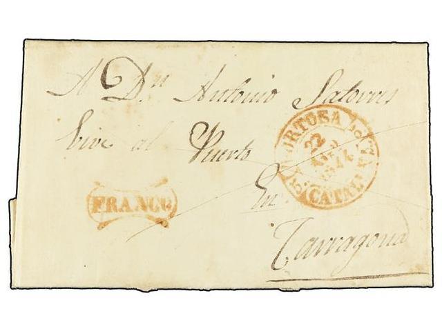 Lot 82 - SPAIN: PREPHILATELIC MARKS  DP05 CATALUÑA  -  Filatelia Llach s.l. Mail Auction #156