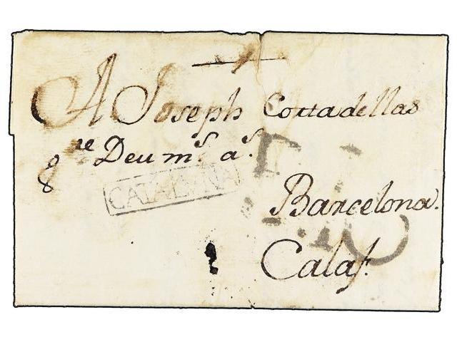 Lot 89 - SPAIN: PREPHILATELIC MARKS  DP05 CATALUÑA  -  Filatelia Llach s.l. Mail Auction #156