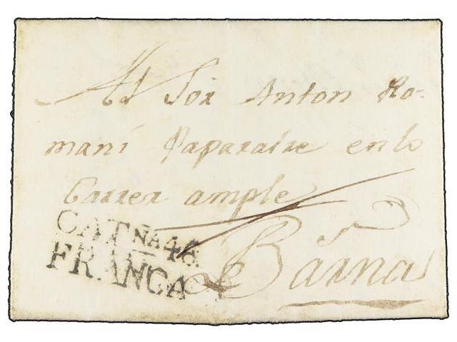 Lot 95 - SPAIN: PREPHILATELIC MARKS  DP05 CATALUÑA  -  Filatelia Llach s.l. Mail Auction #156