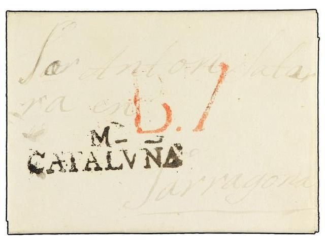 Lot 19 - SPAIN: PREPHILATELIC MARKS  DP05 CATALUÑA  -  Filatelia Llach s.l. Mail Auction #156