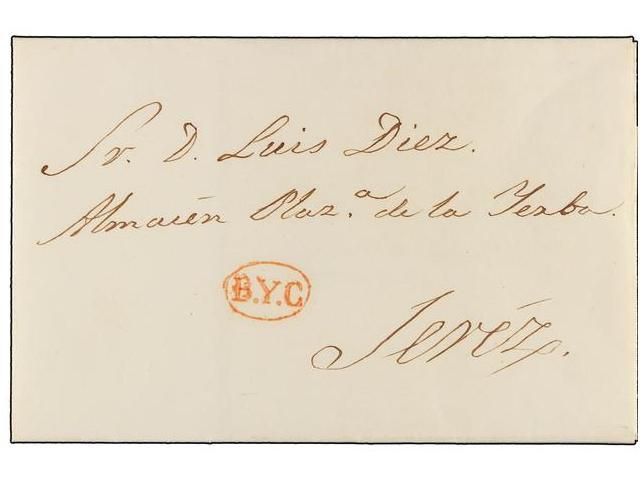 Lot 104 - SPAIN: PREPHILATELIC MARKS  DP26 CADIZ  -  Filatelia Llach s.l. Mail Auction #156