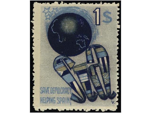 Lot 968 - spanish civil war.republican  political labels  -  Filatelia Llach s.l. Mail Auction #156